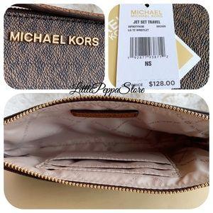 MICHAEL Michael Kors Bags - MICHAEL KORS JET SET WRISTLET MK BROWN